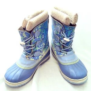 Sorel Yoot Pac Blue Lace Up Snow Winter Boot